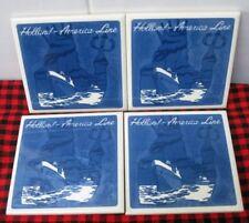Holland America *Blue Delft *Tile Coaster Set* *Coa included Brand New in Box