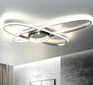 XXL LED Design Deckenleuchte Deckenlampe Oval Wand 70cm 38W Neutral Kalt Weiß