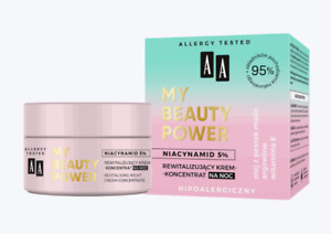 AA My Beauty Power 95% Natural Revitalising Night Cream Concentrate Niacinamide