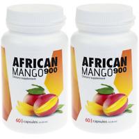 2x AFRICAN MANGO 900 Weight Loss Slimming pills Fat Burner 60 Capsules