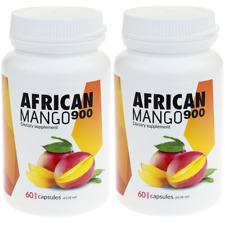 2x 900 Mango Africano Perdita Di Peso Pillole Dimagranti Fat Burner 60 Capsule