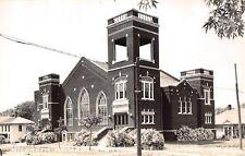 Le Mars Iowa~HIldreth Memorial Church~Houses~1940s Real Photo Postcard~RPPC