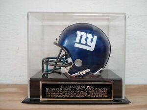 Eli Manning Football Mini Helmet Case For A New York Giants Signed Mini Helmet