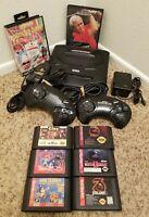 Sega Genesis Model 2 MK-1631Complete Console Bundle Lot Tested + 8 Games