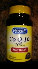 Rexall~CoQ-10~100mg~30 Softgels~Supports Heart & Lung Health
