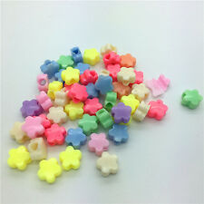 50pcs Mixed STARS Acrylic Perforation beads Children Kid DIY Jewelry Making #12