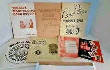 Lot of Vintage Card Magic Books #450 Marlo, Jim Ryan, Jerry Andrus, Ganson, more