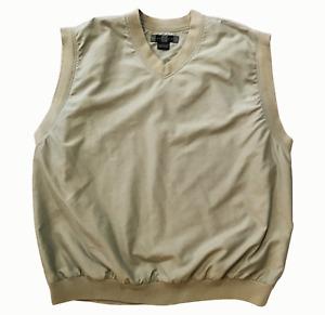 Nike Golf Vest Pullover V-Neck Sleeveless Windbreaker Creme Mens XL
