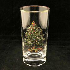 Spode Crystal Christmas Tree Highball Glass 10 oz