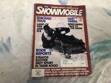 Vintage SNOWMOBILE MAGAZINE 1986 Yamaha Ski Doo Polaris Arctic Cat