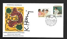 Keith Haring Signed Fdc 1988 Wfuna.Mint Cond.