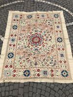 Silk on silk suzani Uzbek blanket bedcover table cover
