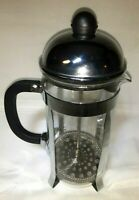 BonJour 8 Cup Stainless Steel French Press ~Glass Carafe Coffee~ Espresso~ Tea