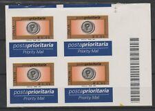 FRANCOBOLLI - 2004 REPUBBLICA PRIORITARIA € 0,60 IN QUARTINA VARIETA' MNH Z/9676
