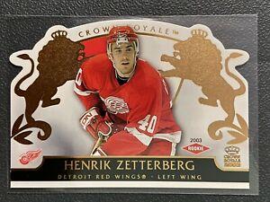 2002-03 PACIFIC CROWN ROYALE 113 HENRIK ZETTERBERG RC SP /2299 DETROIT RED WINGS