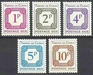 TRISTAN DA CUNHA 1976 SG D11-15 POSTAGE DUE STAMPS  -  MNH