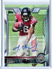 2015 Topps Justin Hardy Rookie Auto SP Variant (running straight) #469B in MINT!