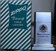 Sehr Selten Zippo Barcroft No. 4 Western Plywood & Lumber inc. 1950´s MIB RAR !