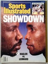 SPORTS ILLUSTRATED MARCH 30, 1987   SHOWDOWN HAGLER VS. LEONARD  -FREE SHIPPING-