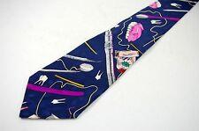 Mens Silk Necktie for the Dentist