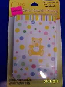 Baby Shower Pastel Polka Dot Party Game Question & Answer Get to Know the Mommy