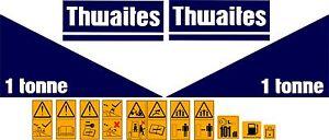 THWAITES 1 TONNE DUMPER DECALS