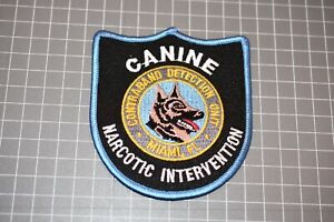 U.S. Customs Canine Narcotic Intervention Florida Patch (S03-1)