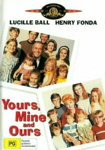 Yours Mine and Ours DVD Lucille Ball New and Sealed Australia