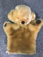 Vintage English Merrythought Teddy Bear Hand Puppet Smiling Cheeky Bear NR
