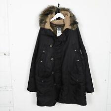 Vintage DOLCE & GABBANA Faux Fur Hooded Padded Parker Jacket Coat Black | XL