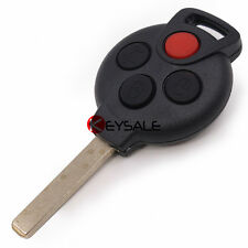 Remote Key Shell Case Fob 3+1 Button for SMART Fortwo 450 Forfour 451 Roadstar