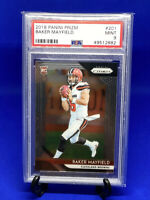 2018 Panini Prizm Baker Mayfield Rookie #201 PSA 9 Mint