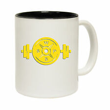 Weight Plate Dumbbell Novelty Bodybuilder Fitness Trainer MUG birthday funny