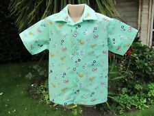 Boys Short-Sleeved Shirt, Green, Tractors, 4-5 Years, New, Handmade