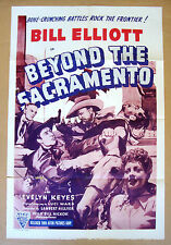BEYOND THE SACRAMENTO Evelyn Keyes WILD BILL ELLIOTT 27x41 WESTERN POSTER