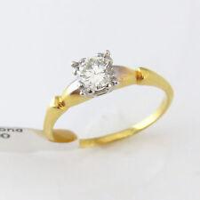 Nyjewel 14k Massiccio Oro Nuovo Elegante Marca 0.65ct Diamante Fidanzamento Ring