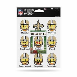 New Orleans Saints Emotion Mood Magnet 8 Emotions 5x6 Inches NEW NFL Free Ship