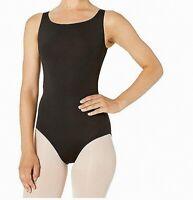 Bloch Womens Activewear Tank Leotard Black Size P Petite Faire Dance $40 096