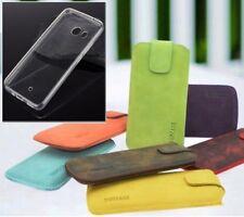 HTC 10 Bolsa Auténtica Funda de Cuero Protectora Móvil en 16 Farben