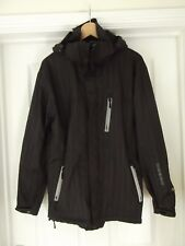 HENLEYS DELUXE PROJECT Waterproof Jacket Peaked Hood Black/Grey Size 2 Small