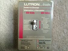 Lutron Ariadni AY-600PH-WH 600W Single Pole Toggle Dimmer White New