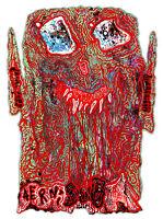 "Original JUSTIN AERNI circa 2021 PAINTING visionary art surreal : ""VAMPIRE HEAD"""