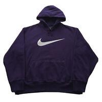 Vintage Nike Hoodie Mens XL Purple Pullover Swoosh Hip Hop Streetwear Sports