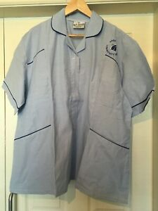 Queen Eleanor Women's Nurse Nursery Nurses/Carer blue Stripe Tunic Size UK 26