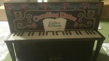 Carolling Kitties Calico Kittens by Enesco Piano Wood Display Plays Music Works!