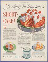 Vintage 1932 CRISCO Shortening Strawberry Shortcake Kitchen Decor 30's Print Ad