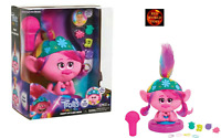 Dreamworks Trolls World Tour Poppy Hair Styling Head Brush and accessories - NEW