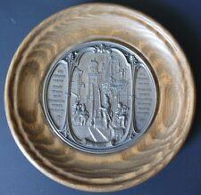 """WMF Zinn Pewter Small Medallion Carl Spitzweg """"Er kommt"""" Rare Germany"""