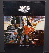 YES Tourmato tour book concert souvenir program 1978 Steve Howe Rick Wakeman