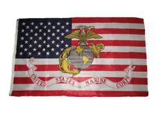 3x5 USA America American EGA Marines Marine Corps Knitted Flag 3'x5' (150D)